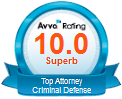 AVVO Rating - Top Criminal Defense Attorney